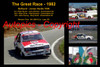 613 - The Great Race 1982 - A collage of the first three place getters from  Bathurst 1982 with winners time and laps completed.