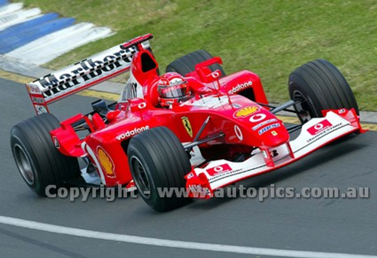 203506 - Michael Schumacher, Ferrari -  Australian Grand Prix  Albert Park 2003 - Photographer Marshall Cass