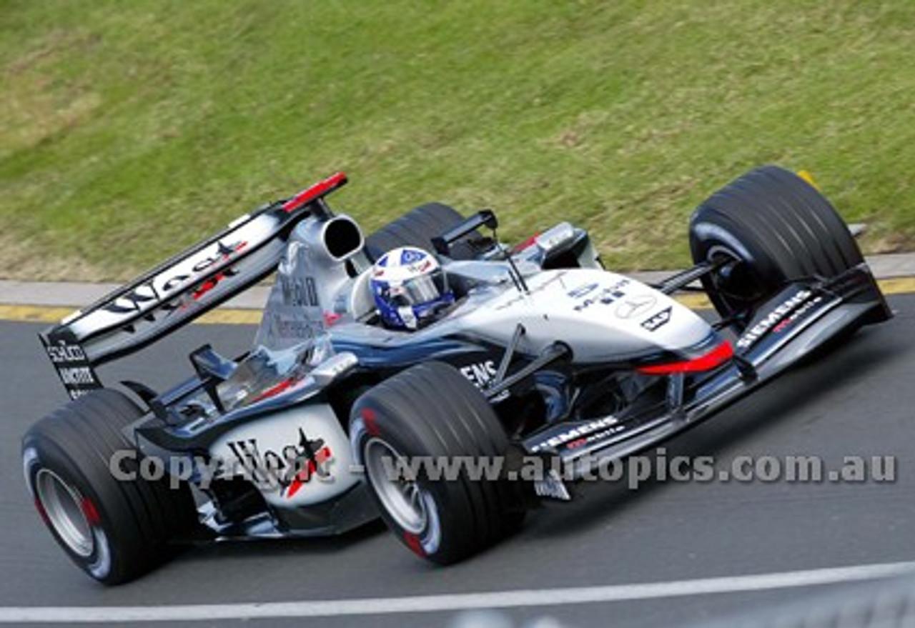203509 - David Coulthard, McLaren-Mercedes -  Australian Grand Prix  Albert Park 2003 - Photographer Marshall Cass