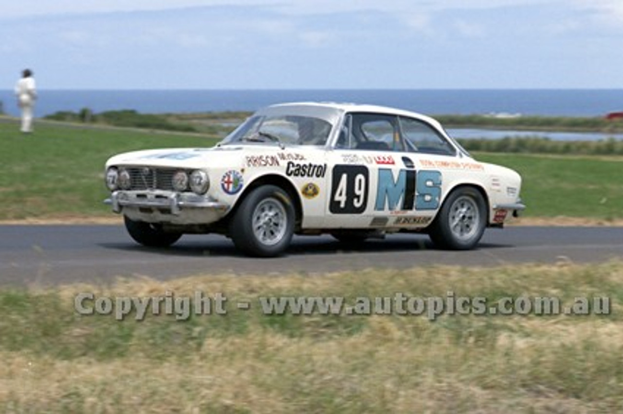 73184 - Ray Harrison, Alfa Romeo - Australian Manufacturers' Championship Heat 5  - Phillip Island 25th November 1973 - Photographer Peter D'Abbs