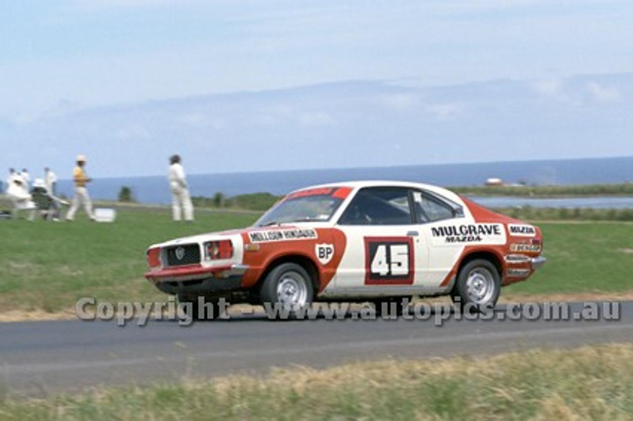 73188 - Mel Mollison, Mazda RX3 - Australian Manufacturers' Championship Heat 5  - Phillip Island 25th November 1973 - Photographer Peter D'Abbs