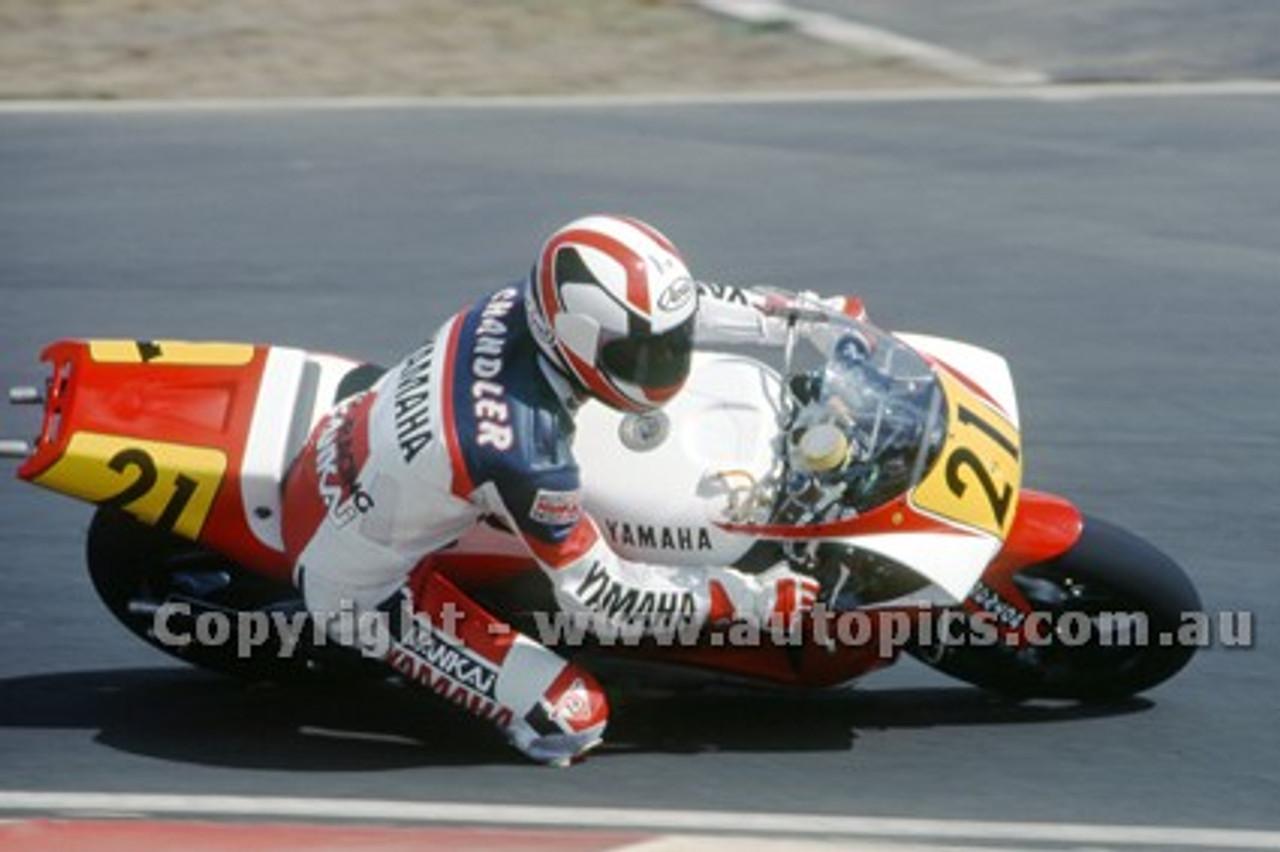 91312 - Doug Chandler, Yamaha - 500cc Australian Gran Prix  Eastern Creek 1991 - Photographer Ray Simpson