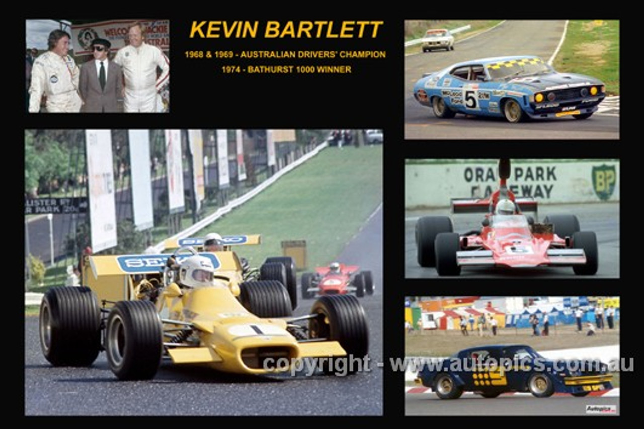 364 - Kevin Bartlett - A collage of a few of the cars he drove during his career