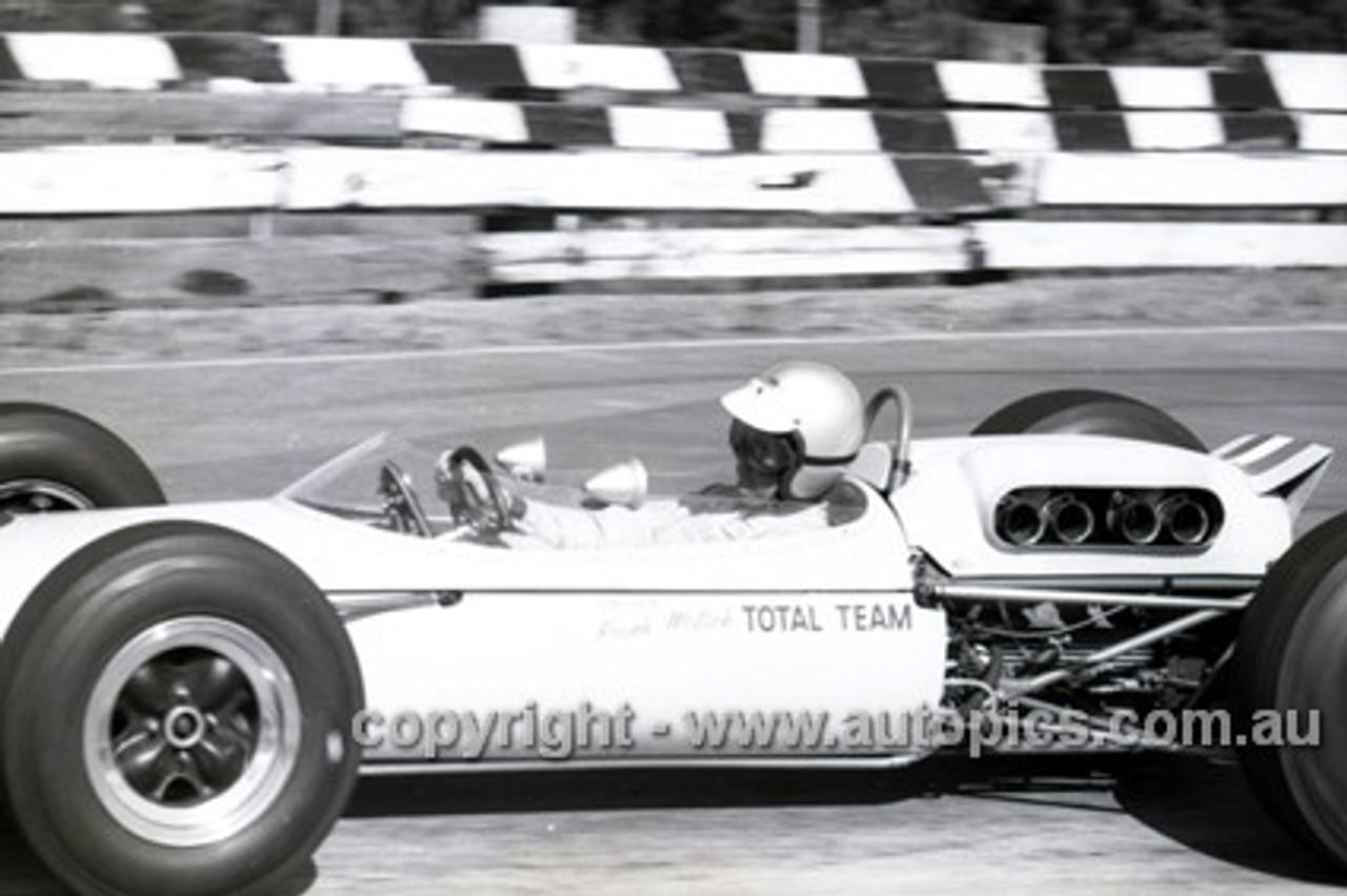 65549 - Frank Matich,  Brabham - Sandown Tasman Series   21st February 1965  - Photographer Peter D'Abbs