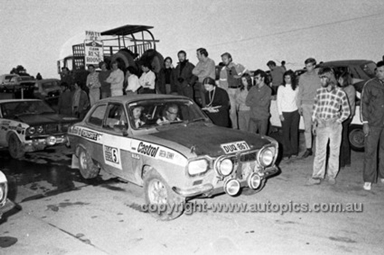 72910 - Evan Green and Roy Denny -  Ford Escort - KLG Rally 1972- Photographer Lance J Ruting