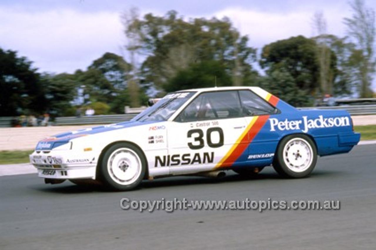 87044-  G. Fury / T. Shiel  - Nissan Skyline - Castrol 500 Sandown 1987 - Photographer Ray Simpson