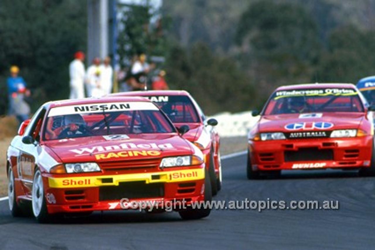92039 - Mark Skaife - Nissan GTR - Oran Park 1992 - Photographer Ray Simpson