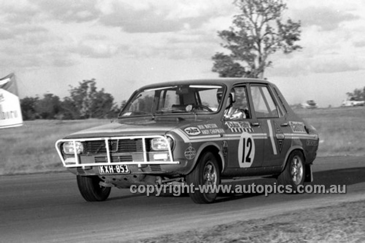 71335 - Bob Watson, Renault Gordini 12 - Dulux Rally Oran Park 1971 - Photographer Lance Ruting