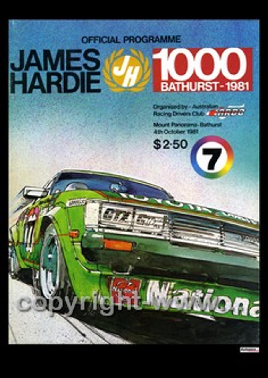 718 - Bathurst Programme 1981