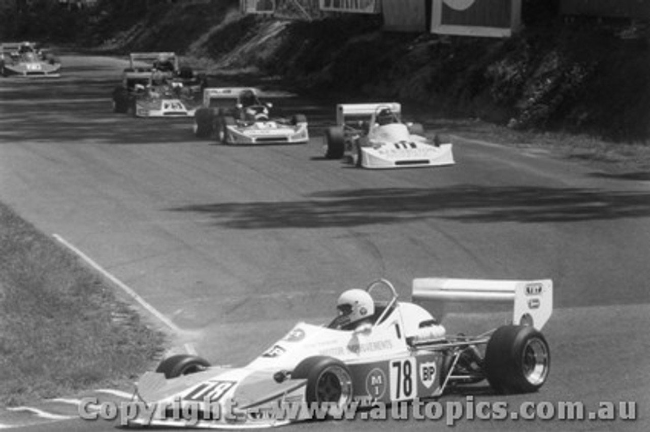 79402 -  Sampson / Richards / Engel / Macrow all in Cheetahs -  Formula Two Series Amaroo Park 11/3/79