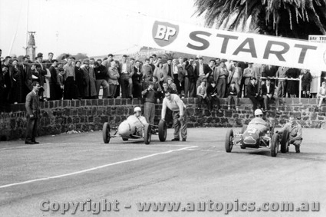 58526 - B. Walton Walton Cooper & J. Marston Cooper Vincent  - Geelong Speed Trials 1958