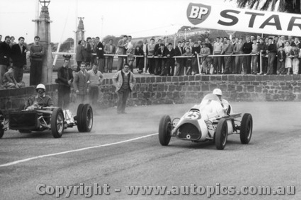 58528 - R. Gibbs Cooper Special & L. Molina Monza Special  - Geelong Speed Trials 1958