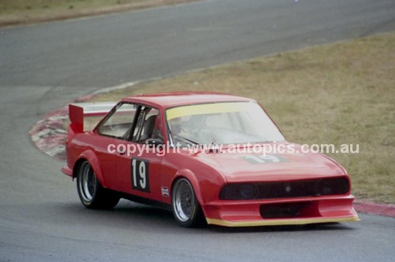 90319 - Joseph Said, Fiat 124  - Amaroo Park 5th August 1990 - Photographer Lance J Ruting