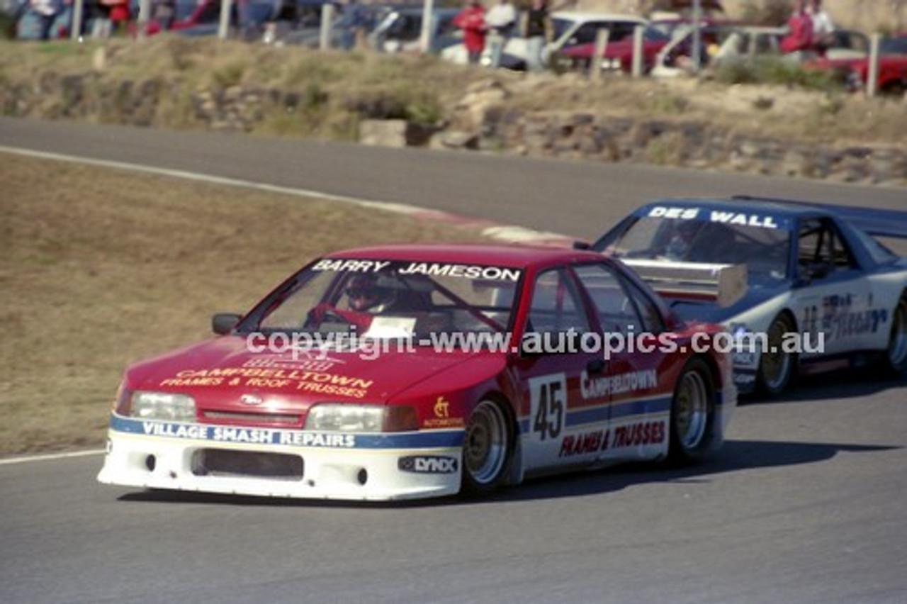 90314 - Barry Jameson, Falcon & Des Wall, Supra - Amaroo Park 5th August 1990 - Photographer Lance J Ruting