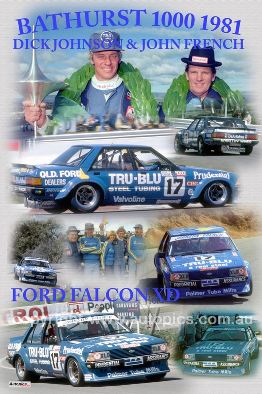 1165 - Dick Johnson & John French, Falcon XD - Bathurst 1000 Winners 1981