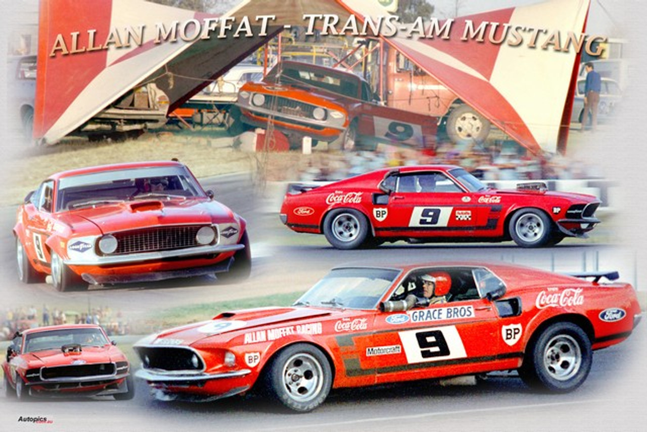 1174 - A collage of the Allan Moffat Trans Am Mustang