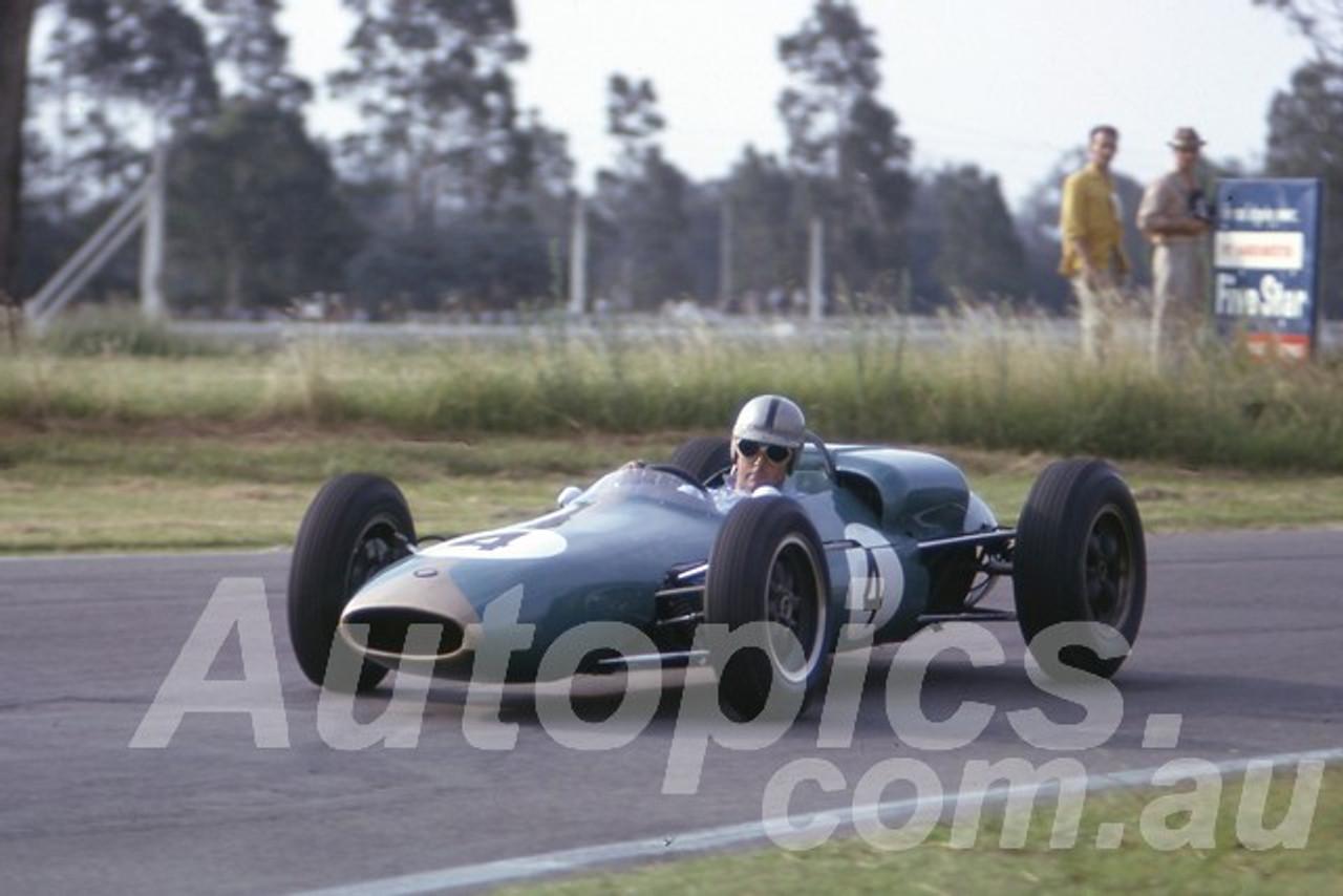 63044 - Jack Brabham,  Brabham Climax - Warwick Farm 1963 - Photographer Peter Wilson