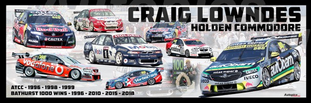 1193  - Craig Lowndes - Holden Commodore -  A Panoramic Photo 30x10 inches.