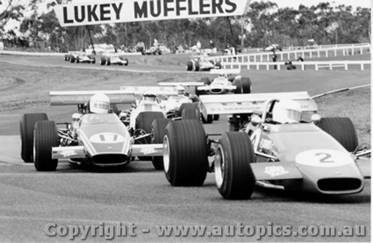 70546 - Garrie Cooper Elfin 600D / M. Ramsay - Elfin 600C / L. Geoghegan Lotus 59 - Sandown  1970