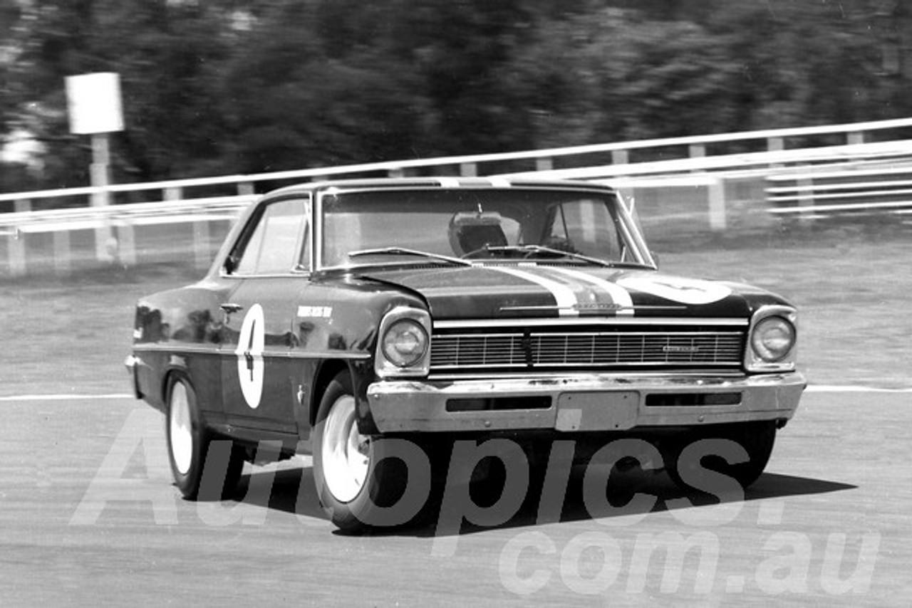 66495 - Norm Beechey, Chev Nova  - Warwick Farm 1966 - Photographer Lance J Ruting