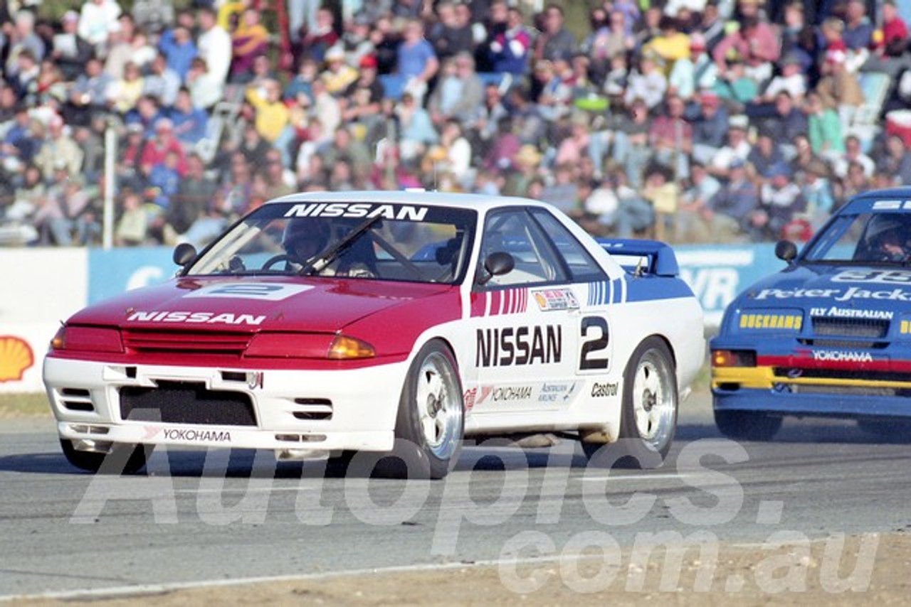 90040 - Jim Richards Nissan Skyline - Wanneroo  24th June 1990 - Photographer Tony Burton