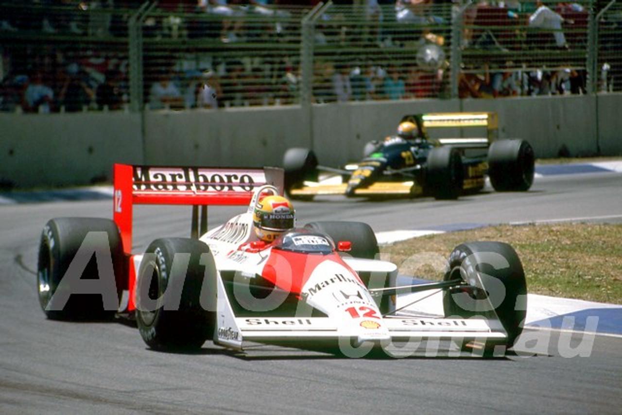 88141 - Ayrton Senna, McLaren-Honda,  AGP Adelaide, 5th November 1988 - Photographer Darren House