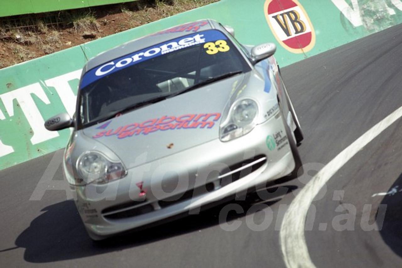 202827 - James Koundouris - Porsche 996 GT3  - Bathurst 13th October 2002 - Photographer Marshall Cass