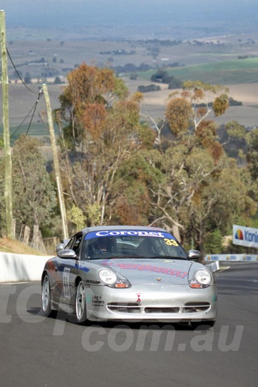 202828 - James Koundouris - Porsche 996 GT3  - Bathurst 13th October 2002 - Photographer Marshall Cass