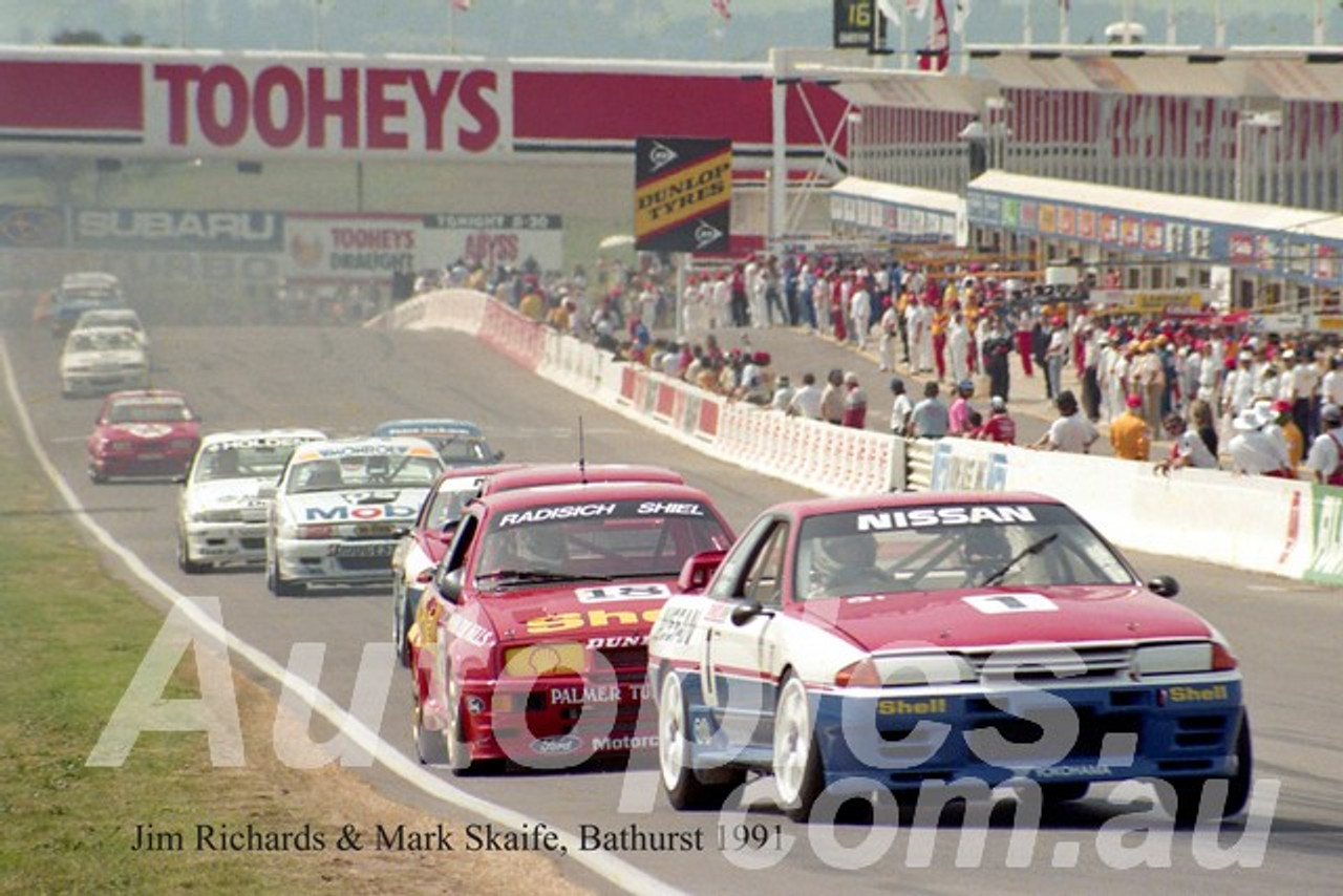 Jigsaw Puzzle, A3 Size, Jim Richards and Mark Skaife,  Bathurst, 1991