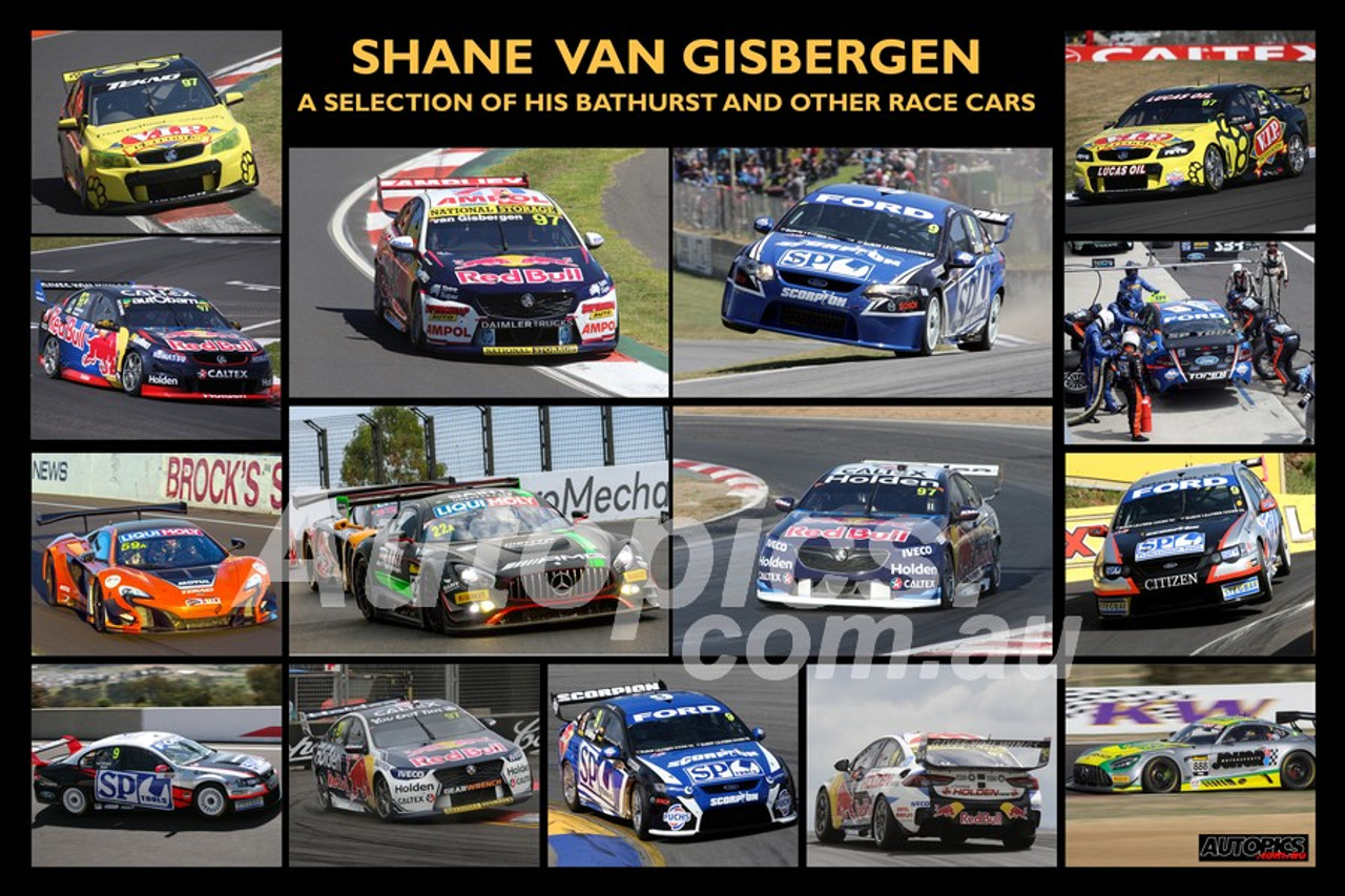 Shane van Gisbergen - A collection of 15 images of Bathurst and other races