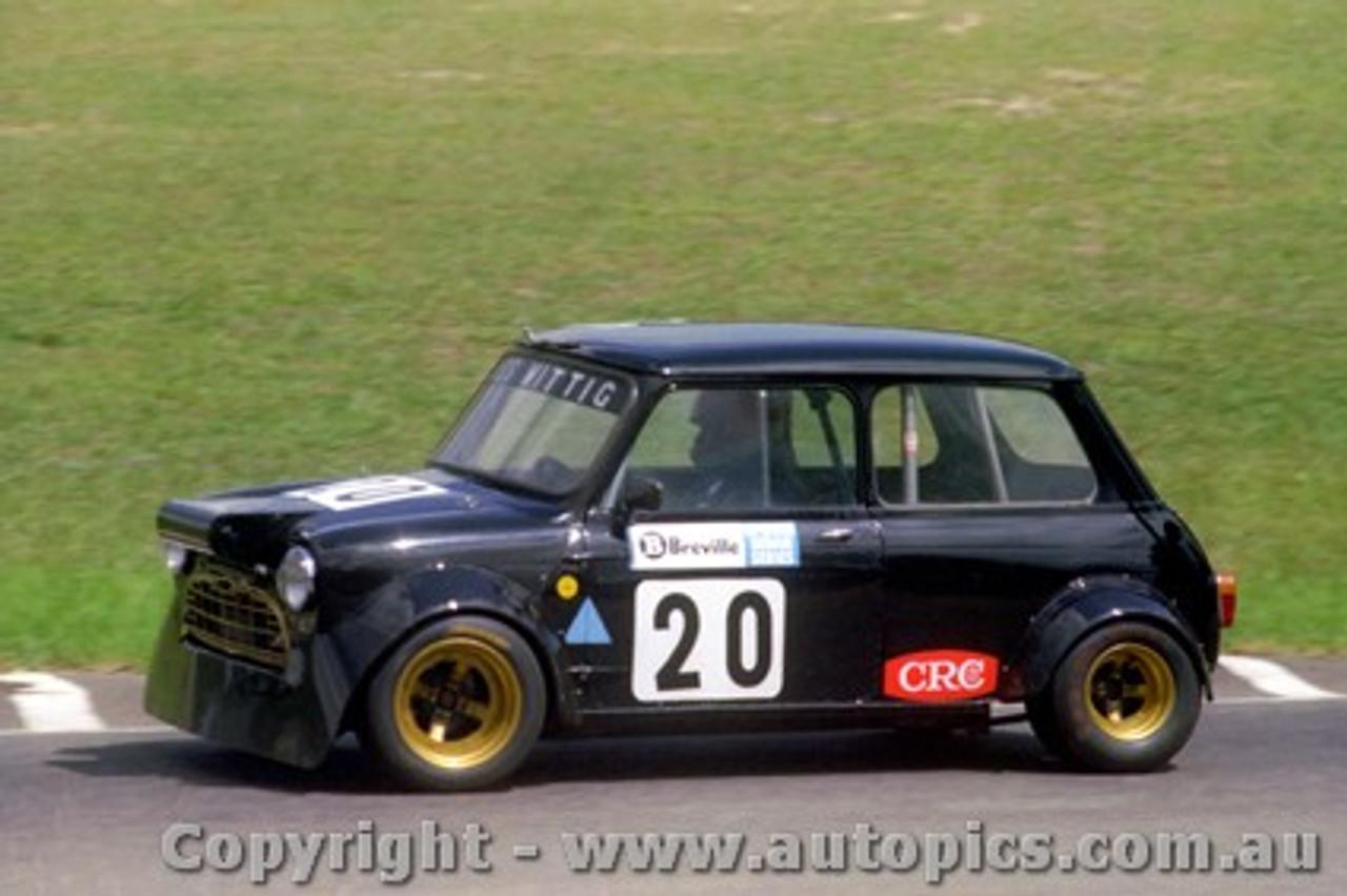 79027 - Ross Wittig  Morris Mini Amaro Park 11th March 1979