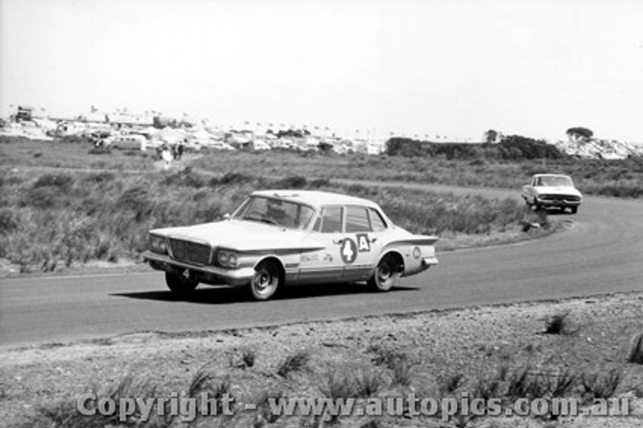 62739 - P. Boyd-Squires / P. White  - Chrysler Valiant - Armstrong 500 - Phillip Island 1962