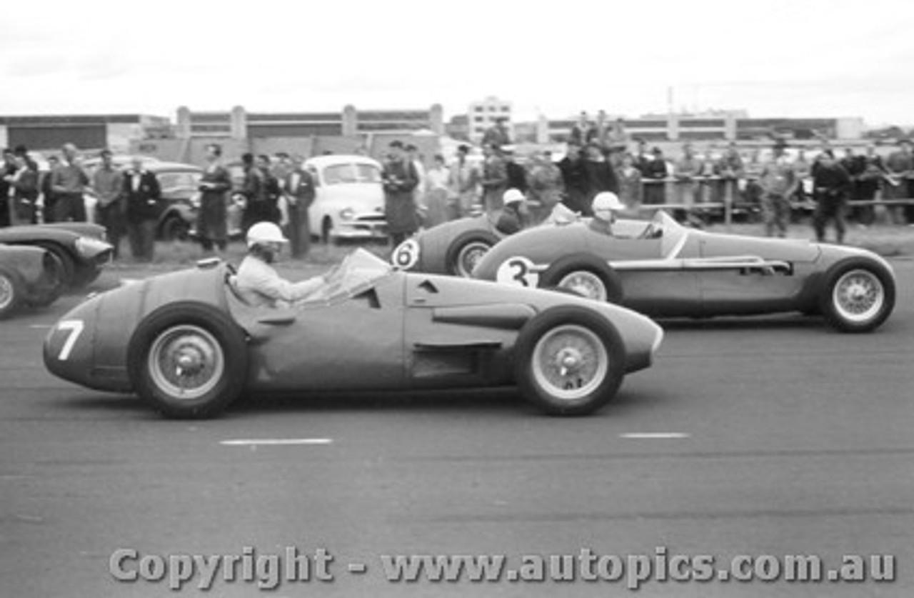 58546 - #7 B. Stillwell Maserati / #3 E. Gray Tornado / #6 S. Jones Maserati -  Fishermen s Bend 22nd February 1958 - Photographer Peter D Abbs