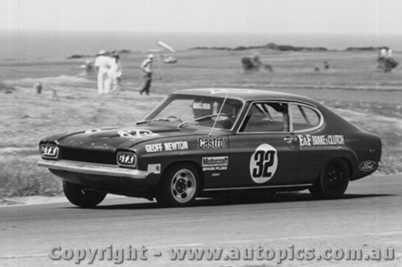 74101 - G Newton - Capri V6 - 24/11/1974 - Phillip Island - Photographer Peter D Abbs