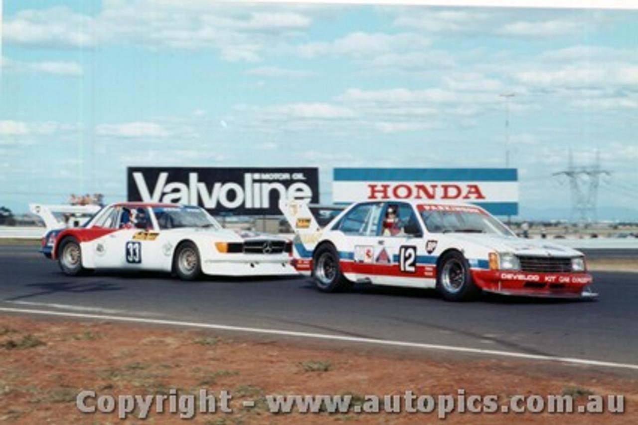 81034 - T Parkinson - Holden Commodore - J Bowe - Mercedes Benz - 1981 - Calder - Photographer Peter D Abbs