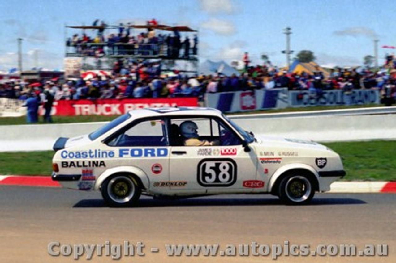 81784 - G. Mein / G. Russell-  Ford Escort RS2000 -  Bathurst  1981 - Photographer Lance J Ruting