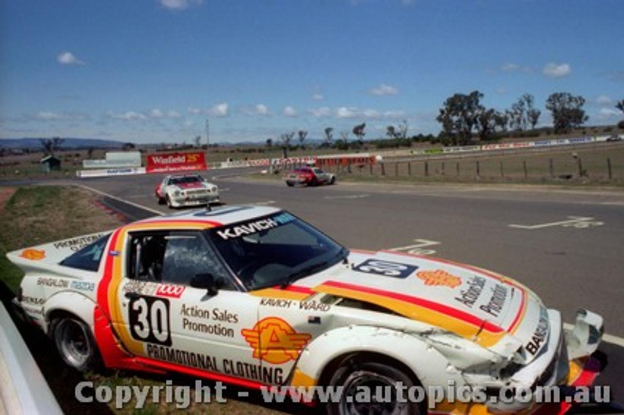 82817 - T. Kavich / P. Ward - Mazda RX7- Bathurst 1982 - Photographer Lance J Ruting