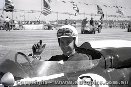 61520 - Ron Flockhart Cooper Climax - Ballarat Air Strip 1961 - Photographer Peter D Abbs