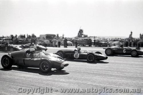 61522 - Dan Gurney BRM / Ron Flockhart Cooper Climax / Stan Jones Cooper Climax - Ballarat Air Strip 1961 - Photographer Peter D Abbs