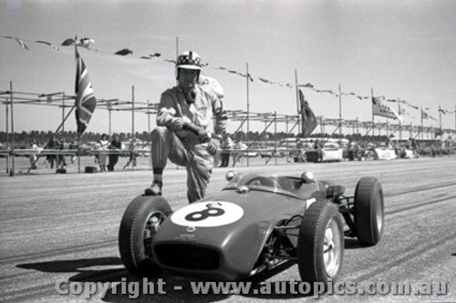 61523 - Innes Ireland Lotus 18 - Ballarat Air Strip 1961 - Photographer Peter D Abbs