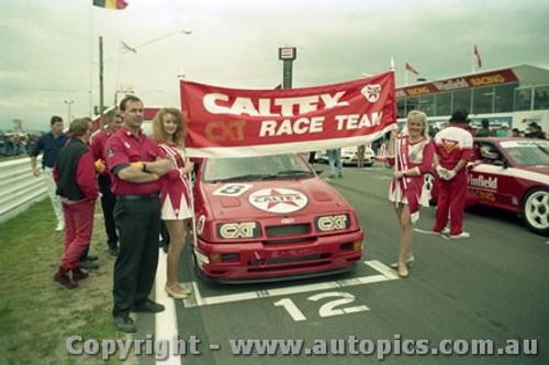 92735  - Colin Bond / John Smith - Ford Sierra RS500  -  Bathurst 1992 - Photographer Lance Ruting