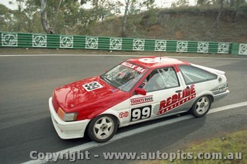 93738 - Steve Cramp / Denis Cribbin Toyota Corolla - Bathurst 1993 - Photographer Lance J Ruting