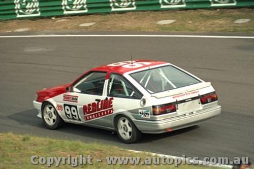 93739 - Steve Cramp / Denis Cribbin Toyota Corolla - Bathurst 1993 - Photographer Lance J Ruting