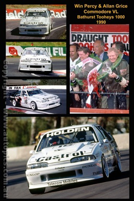 Win Percy & Allan Grice - A collection of 5  photos from Bathurst 1990 - Holden Commodore VL