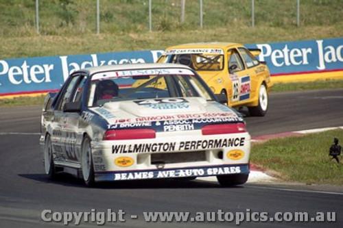 92745  - John Leeson / Rohan Cooke - Holden Commodore VL  -  Bathurst 1992 - Photographer Lance J Ruting