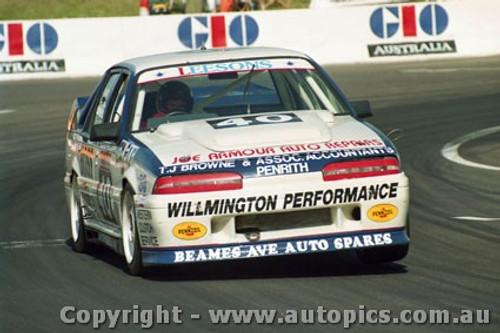 92746  - John Leeson / Rohan Cooke - Holden Commodore VL  -  Bathurst 1992 - Photographer Lance J Ruting