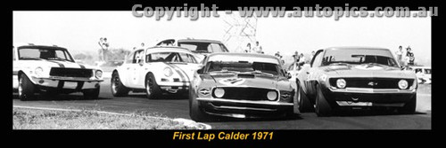 1971 First Lap - Calder  - Moffat Jane McKeown Beechey & Geoghegan - A Panoramic Photo 30x10inches.