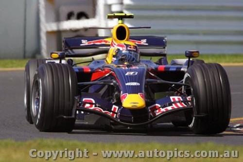 207503 - Mark Webber Red Bull - Australian Grand Prix Albert Park Melbourne 2007 - Photographer Marshall Cass