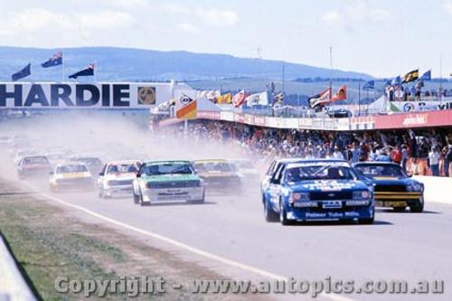 81700 - The Start of the James Hardie 100 - Bathurst 1981 - Photographer Lance J Ruting
