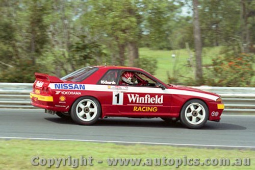92033 - Jim Richards  - Nissan GTR - Lakeside 1992 - Photographer Marshall Cass
